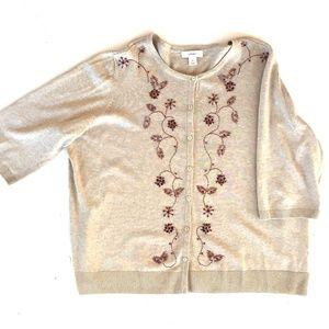 CJ Banks bejeweled cardigan Size 3X